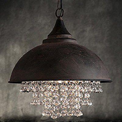 AuBergewohnlich KAGU CULTURE Moderne Vintage Kristall Pendelleuchte Hängeleuchte Dekoration  Für Wohnzimmer Hotel Restaurant Cafeteria Rost: Amazon