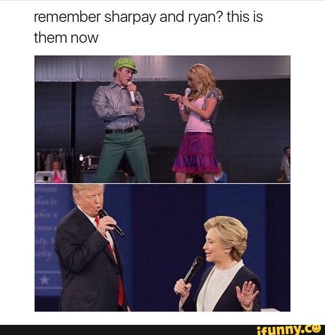 Trump Hillary Debate Highschoolmusical Lol Musicals Funny High School Musical Funny Black Memes
