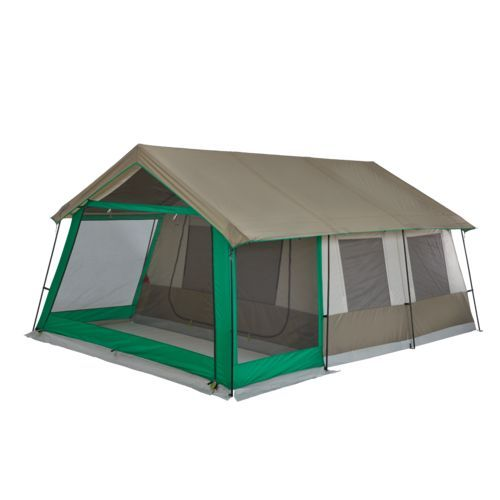 The Magellan Outdoors Lakewood Lodge Cabin Tent Sleeps Up To 10 People And Features A 60 Sq Ft Screen Room Cabin Tent Tent Tent Camping