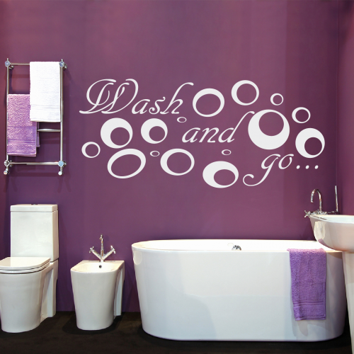 Wash And Go Badezimmer Wandtattoo Badezimmer Baden