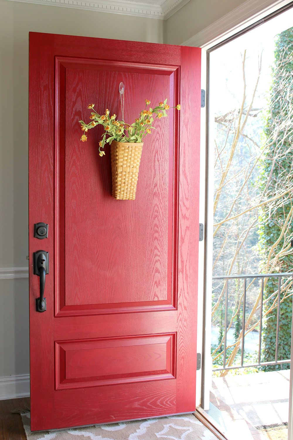 Front Door Paint Ideas for Spring | Gorgeous Red Front Door Project ...
