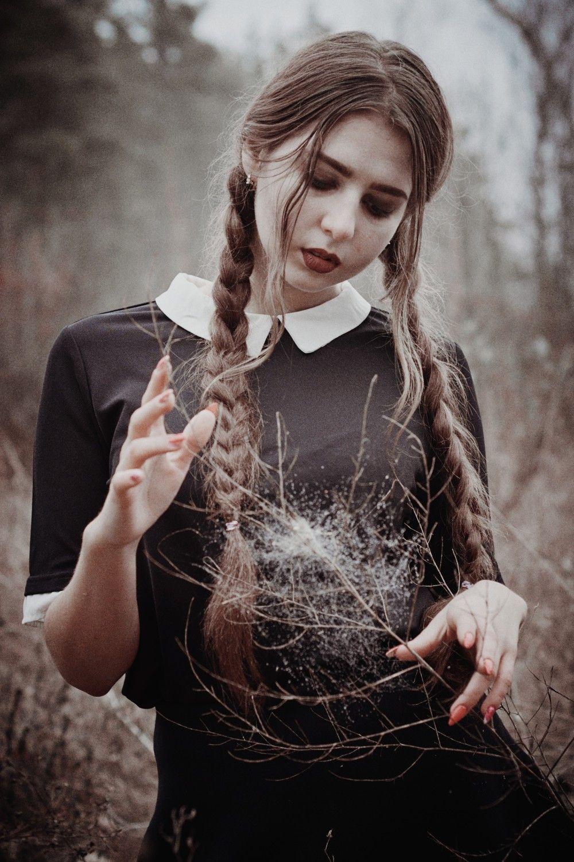 Девушка фотосессия в лесу магия туман фотосессия в днепре ...