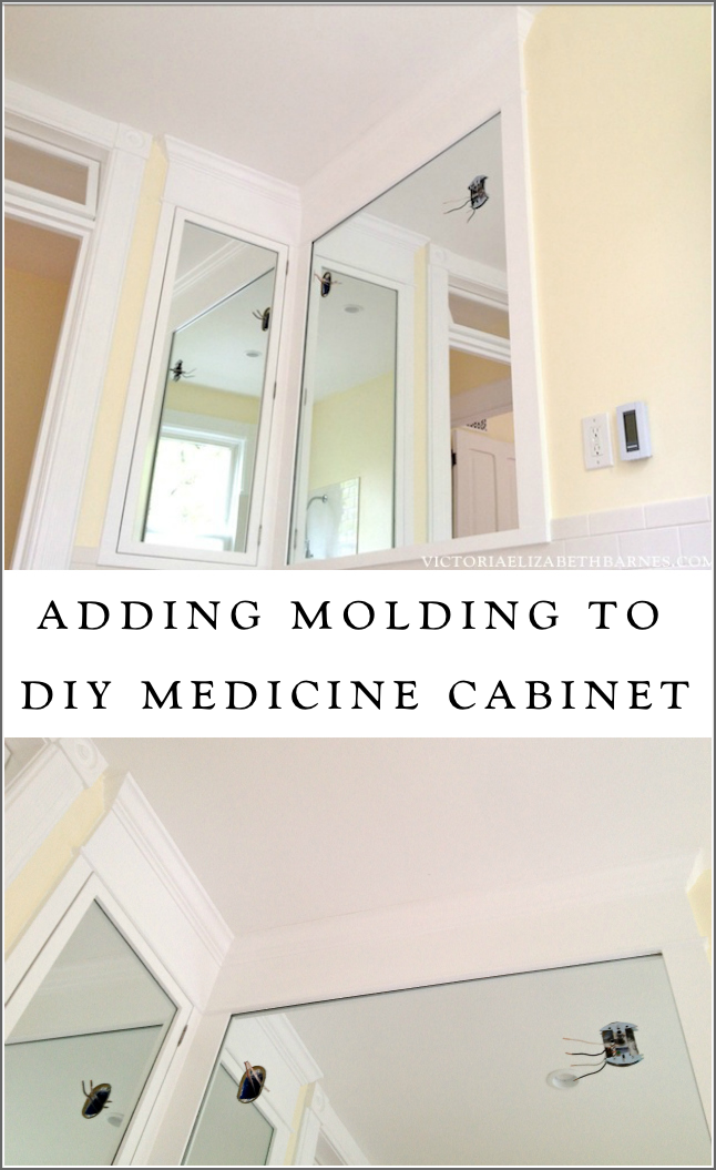 Framing Out The Medicine Cabinet Sconces Crown Molding Happiness Bathroom Decor Diy Bathroom Updating House