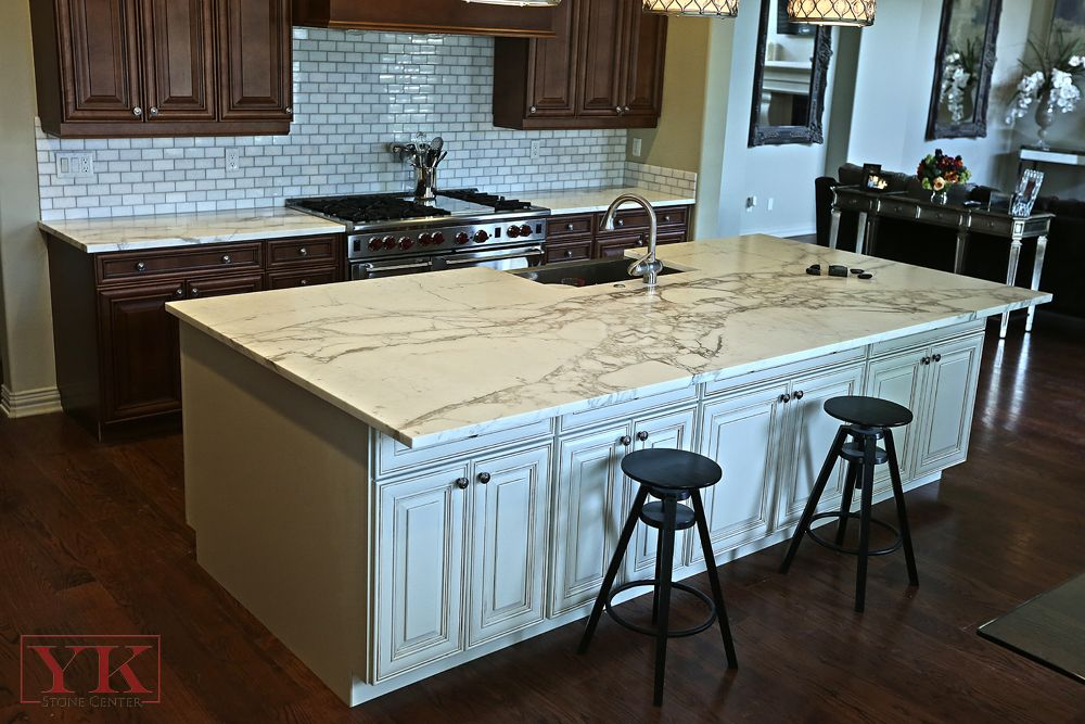 Awesome Book Matched Marble Island Courtesy Of Yk Stone Center