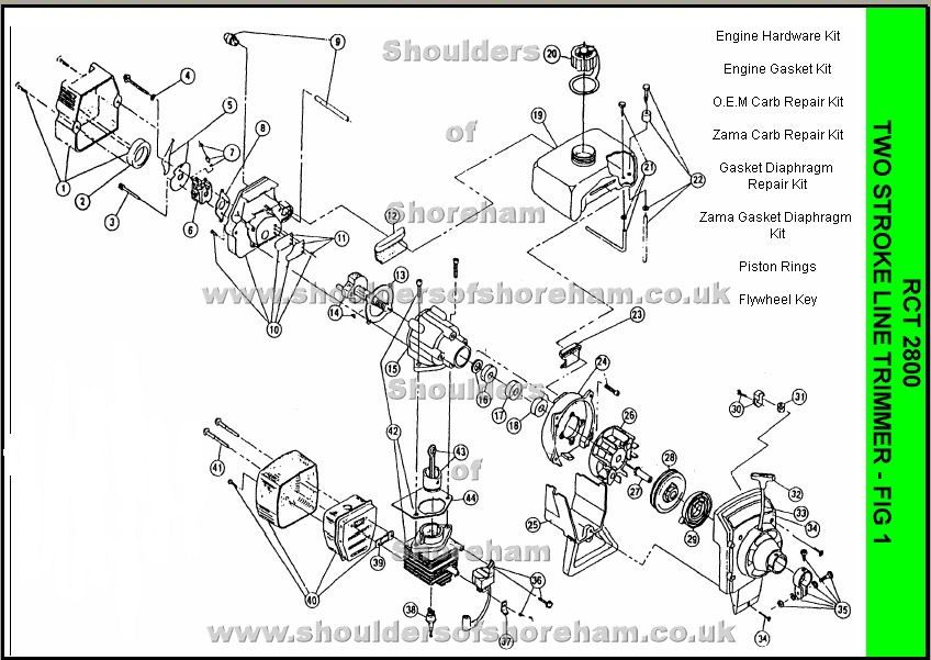 Phenomenal Rct2800 Ryobi Trimmer Brushcutter Spare Parts Diagram Wiring Digital Resources Cettecompassionincorg