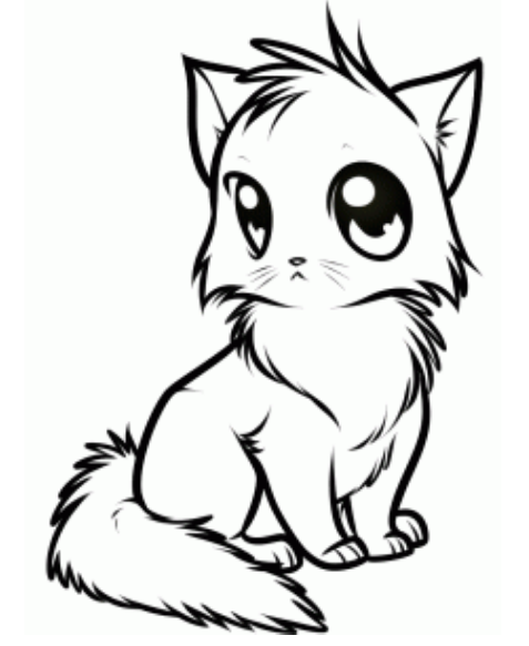 How To Draw Anime Cat Picture Cutecat Cartoon Cat Drawing Cute Anime Cat Animal Drawings