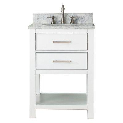 Avanity BROOKS-VS24-WT Brooks 24-in. Single Bathroom Vanity Marble White Top - BROOKS-VS24-WT-C, AVC219-3