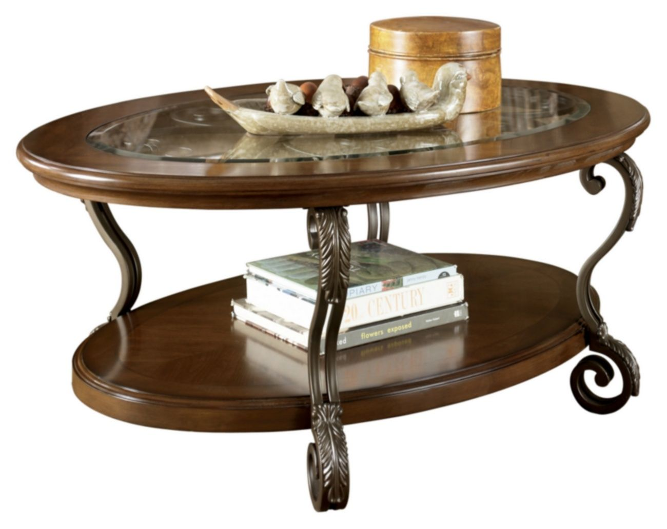 Signature Design Nestor Oval Cocktail Table Ashley Furniture T517 0 Oval Coffee Tables Glass Top Coffee Table Coffee Table [ 1032 x 1300 Pixel ]
