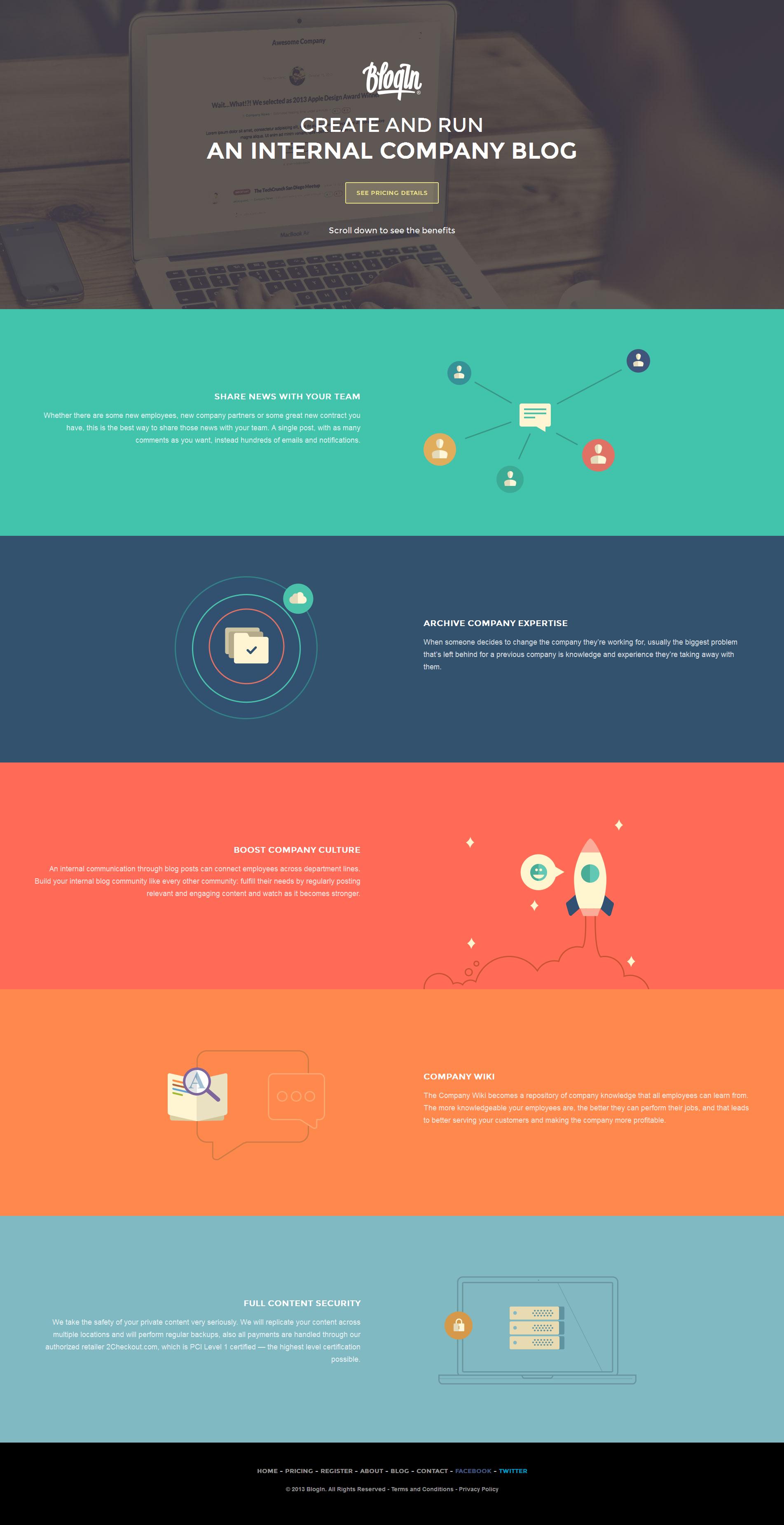 Entrepreneurial Web Designers Sinisa Komlenic And Zeljiko Gudelji Designed Blogin With Many Of Today S Top Trends Flat Web Design Web Layout Design Web Design