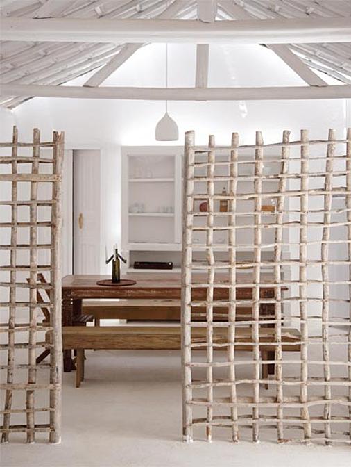 Biombo de madera separador de espacios wood pinterest haus raumteiler y m bel - Biombos separadores de espacios ...