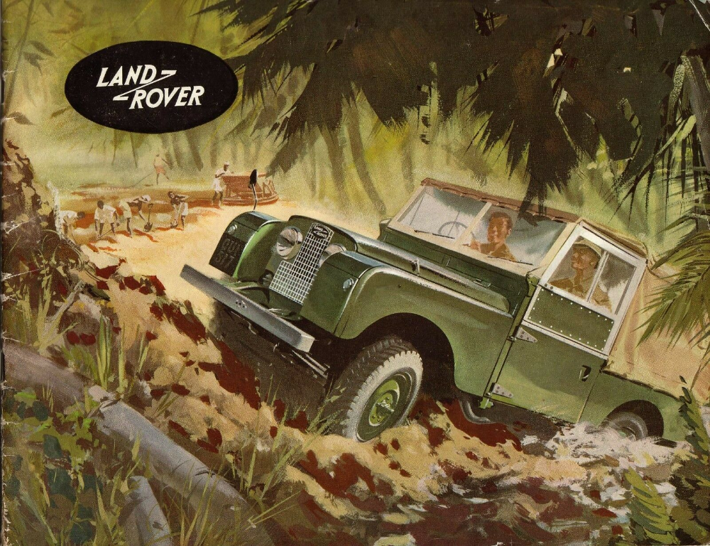 Off Road 4x4 Pickup Classic//Vintage Car Large Metal Tin Sign Picture Land Rover