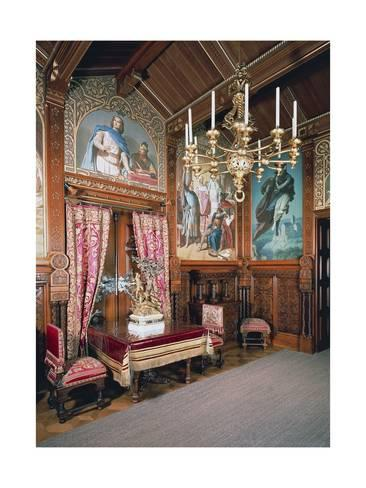 Giclee Print The Dining Room Neuschwanstein Castle 24x18in Neuschwanstein Castle Castles Interior Inside Castles