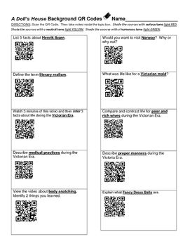 I created this worksheet as a pre-reading activity for A Doll\'s ...