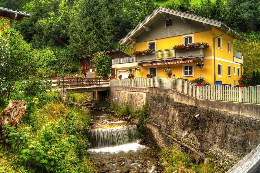 Waterfall House, Zell am See, Austria
