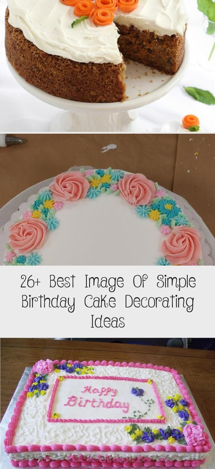 Surprising 26 Best Image Of Simple Birthday Cake Decorating Ideas Simple Personalised Birthday Cards Epsylily Jamesorg