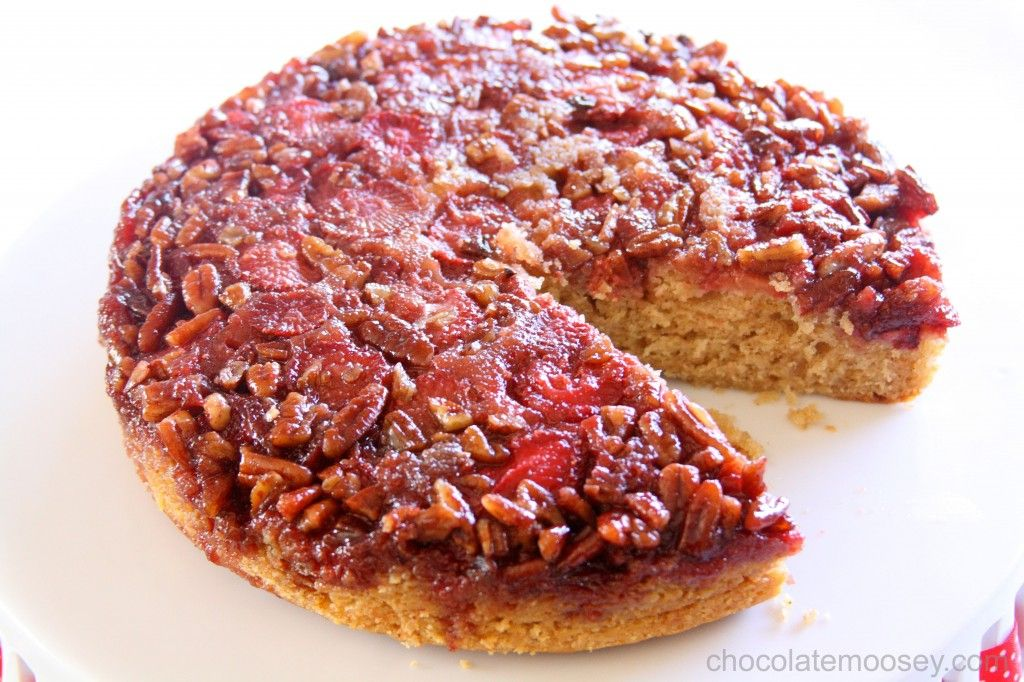 Awardwinning strawberry pecan upsidedown spice cake