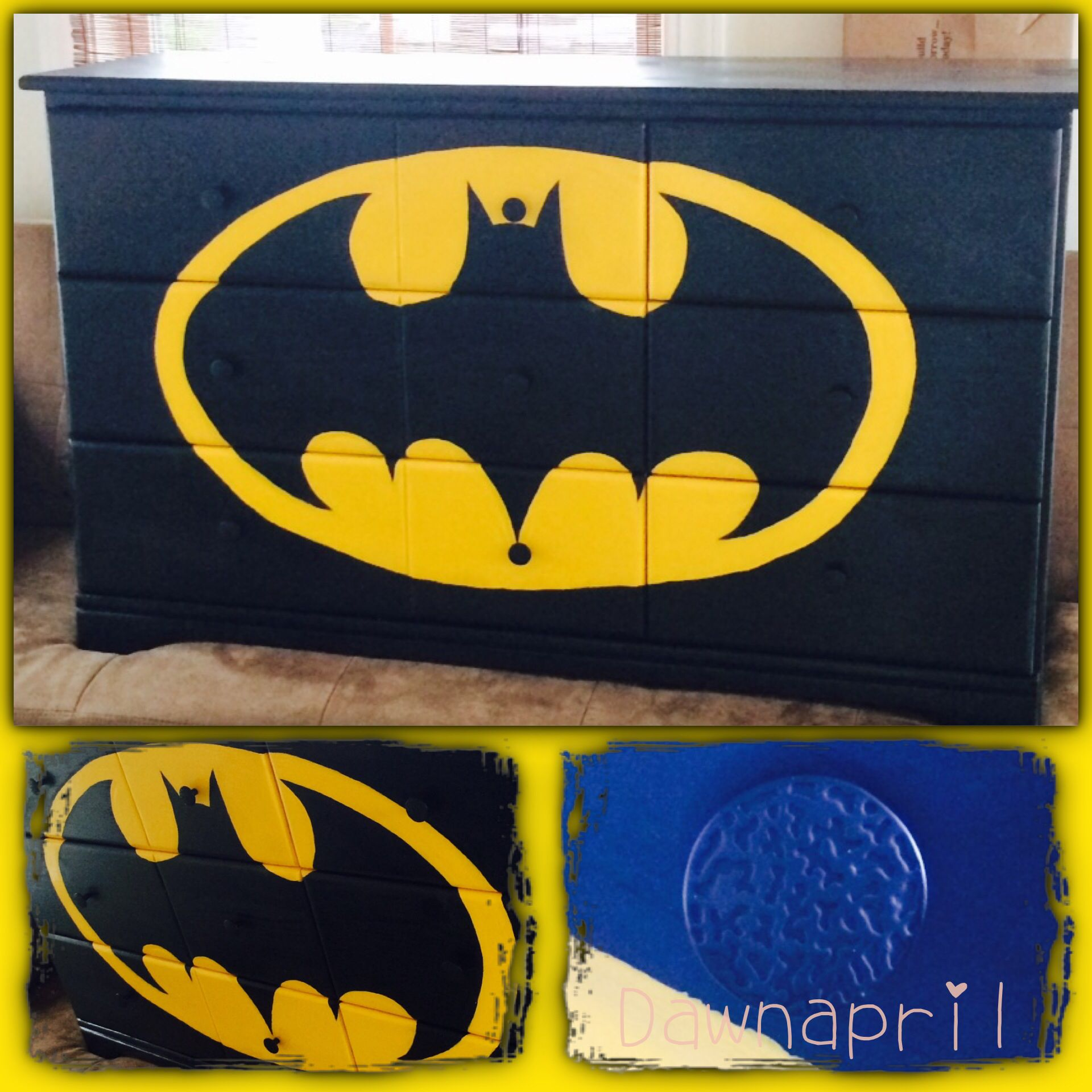For Your Home Dawnapril.com Batman Signal Yellow And Black Kids Boy  Dresser. Superhero