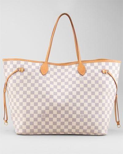 Louis Vuitton Neverfull MM N51107. Louis Vuitton Damier Azur ... 49d6f2593b344