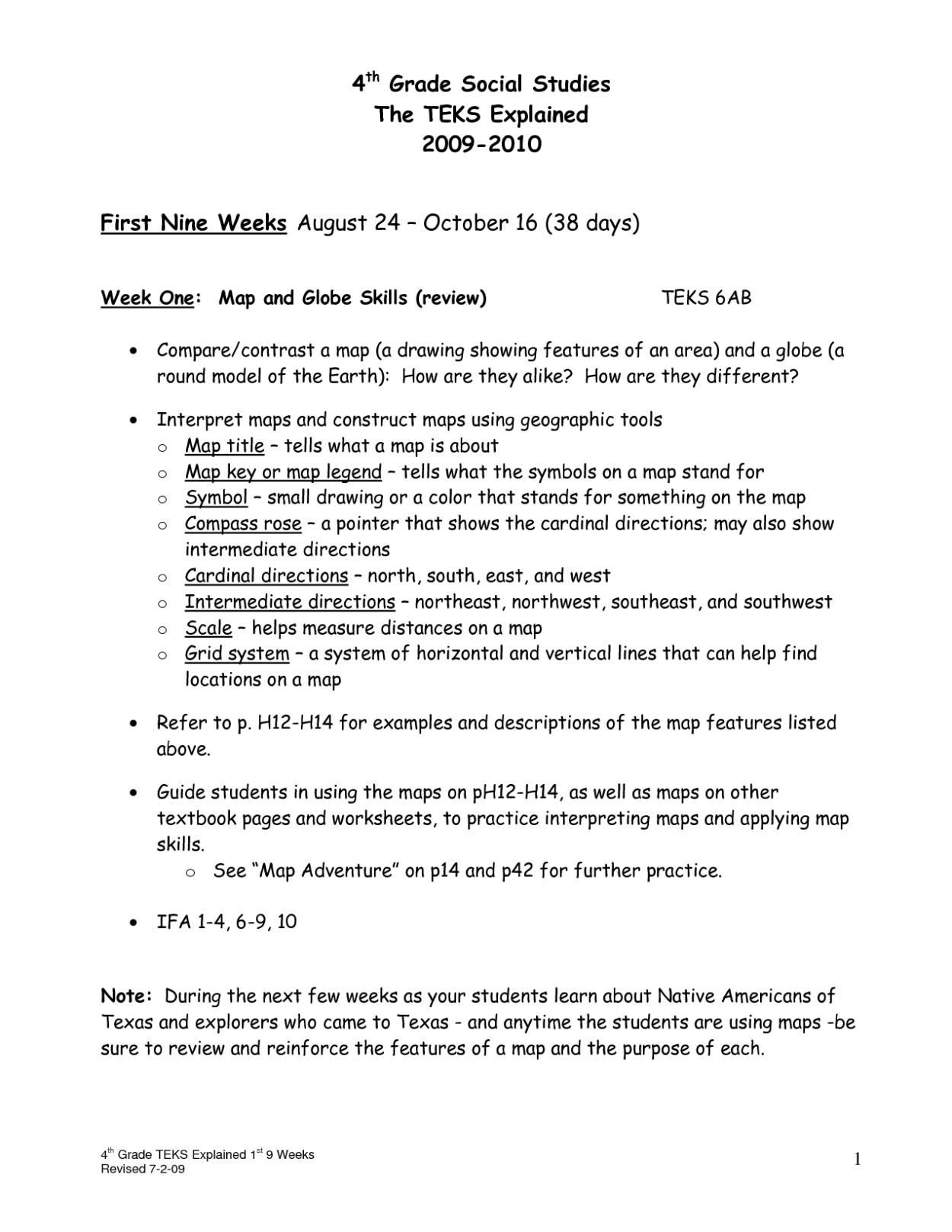 4th Grade Worksheets Printable
