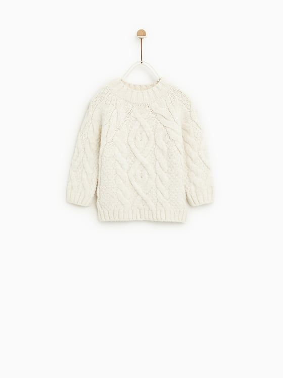 11aa992d CABLE-KNIT SWEATER - Available in more colours Zara Kids, Clothing  Photography, Photography