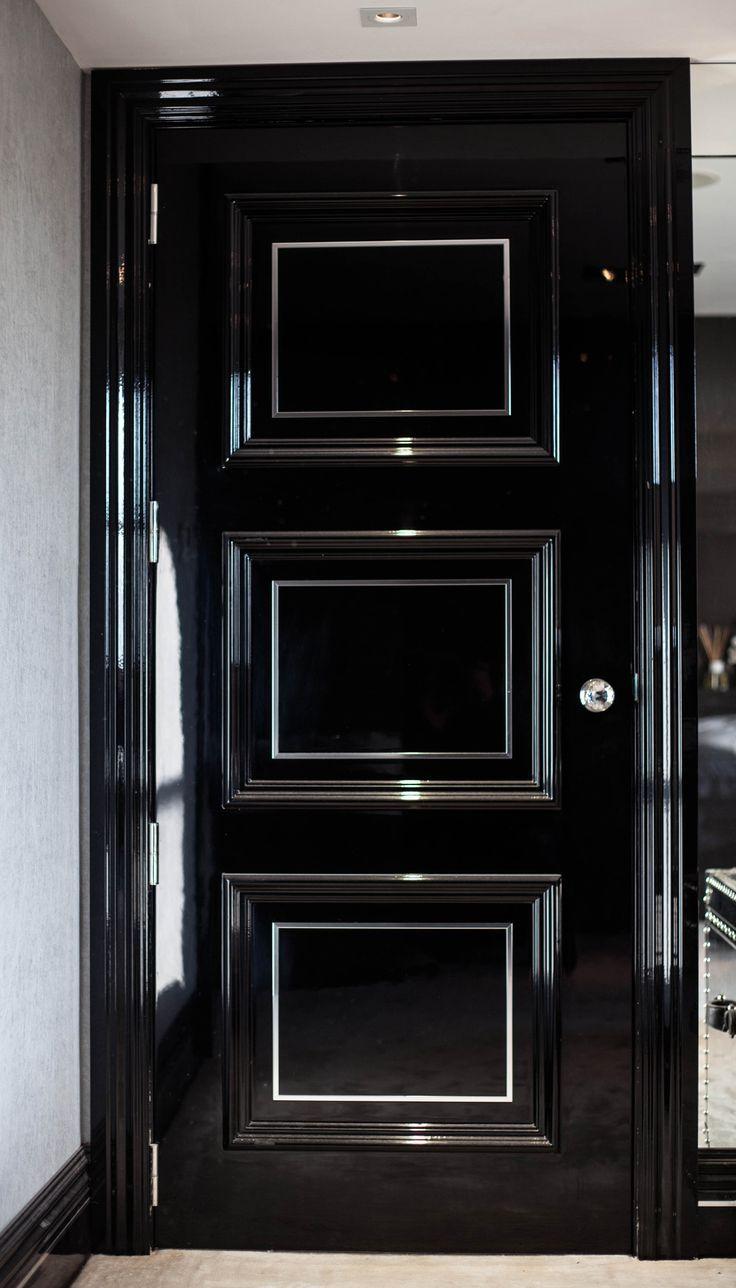 Home Decor Trend - Black Doors - black bedroom doors & bedroom doors design - بحث Google | artist | Pinterest | Bedroom ...