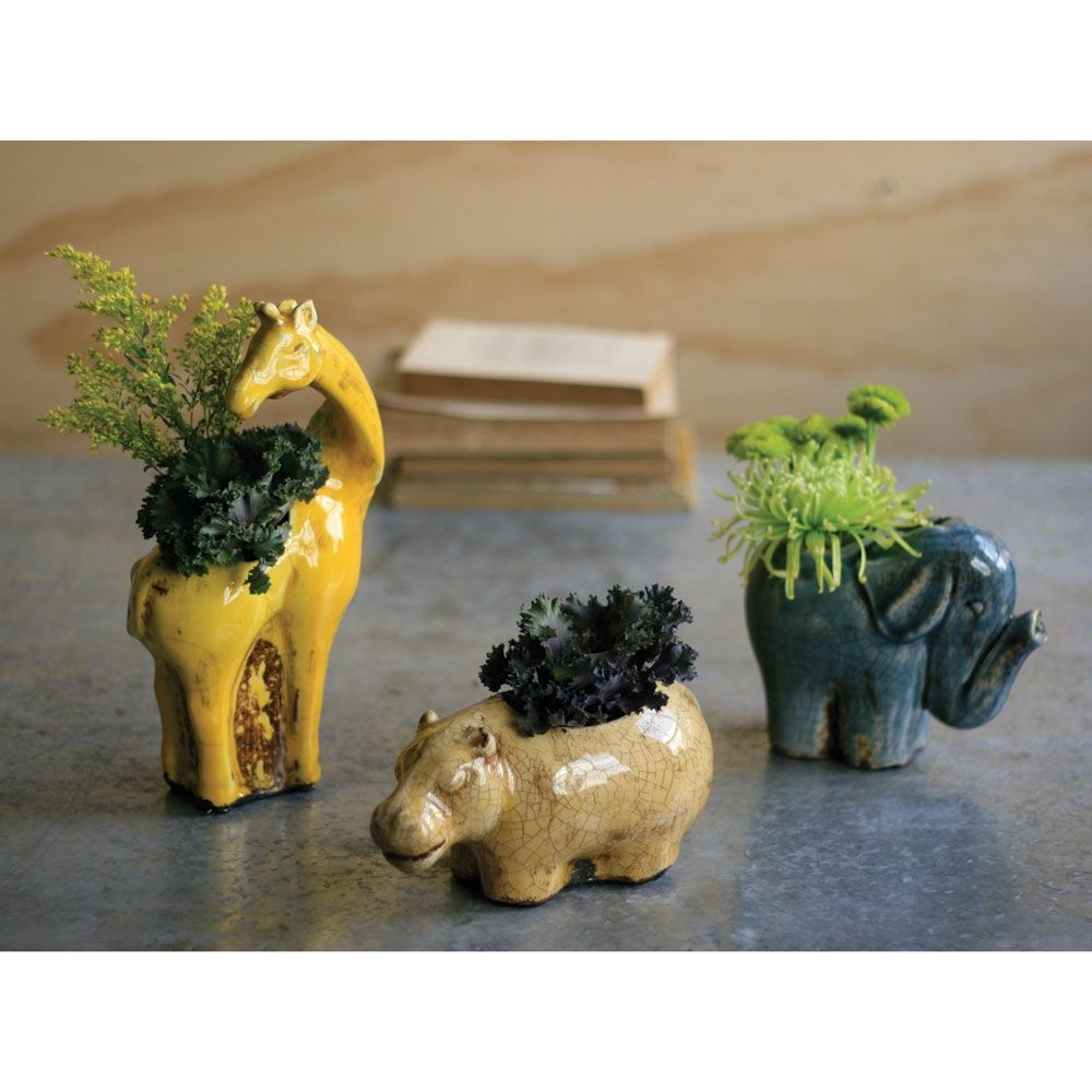 Safari Planters, Set of 3 made by Charming Accessories For Any Space.