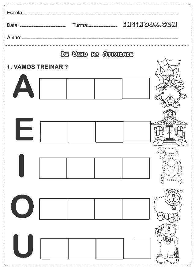 Excepcional Atividades 1° ano português alfabeto - Ensino Já | Português  PD54