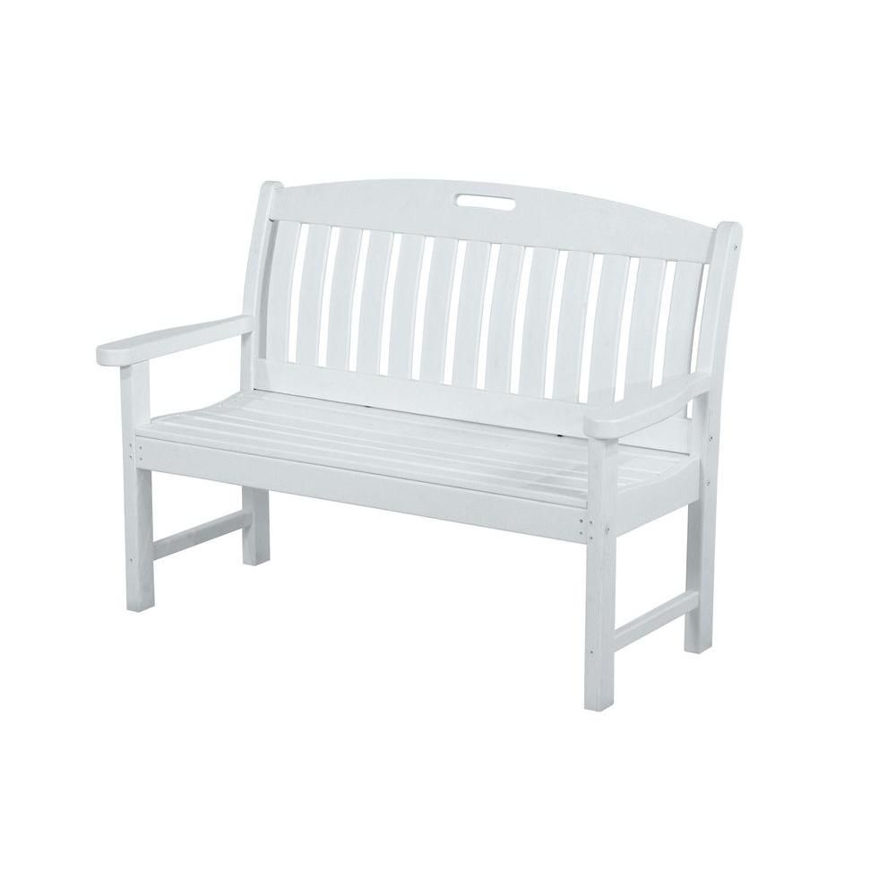 Wondrous Polywood Nautical 48 In White Patio Bench Products Pdpeps Interior Chair Design Pdpepsorg
