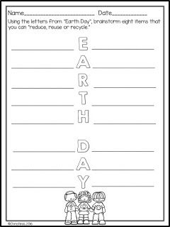 A Few Simple Earth Day Activities  2nd grade April  Pinterest
