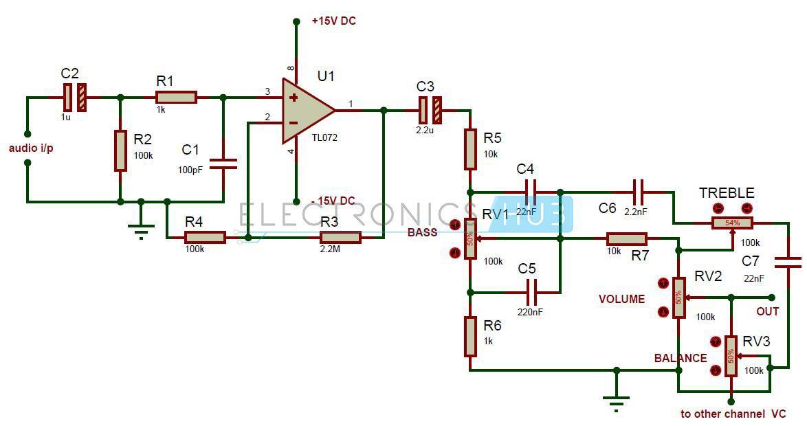 simple audio tone control circuit circuit diagram and audio. Black Bedroom Furniture Sets. Home Design Ideas