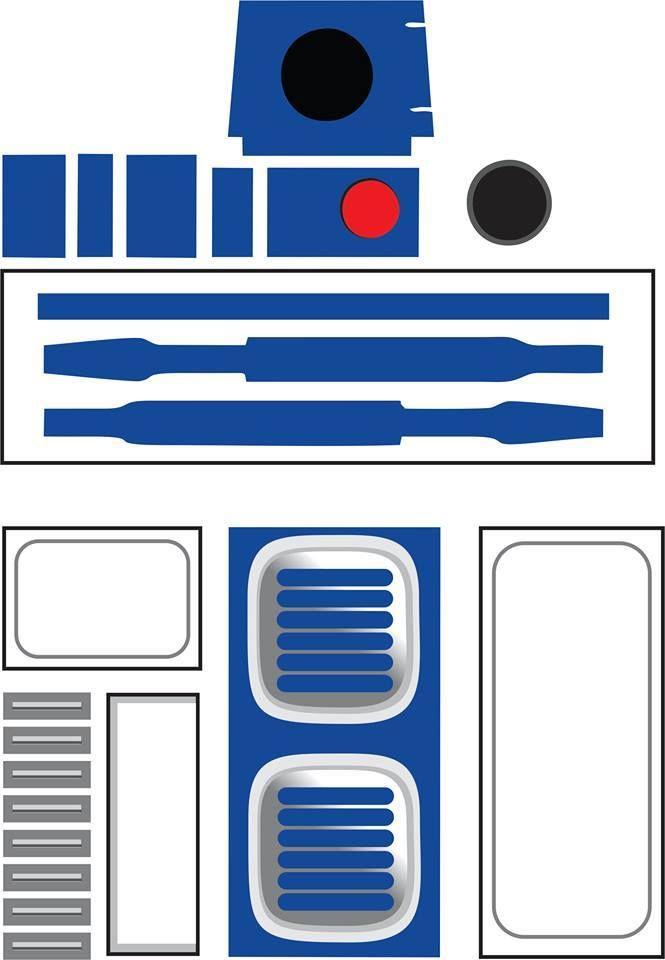 r2d2 leg template - r2d2 diy molde lixeira 2 geek star wars diy geek art