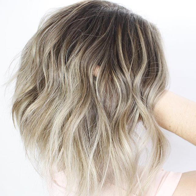 Blonde Balayage On Dark Hair Ashy Blonde Highlights And Shadow