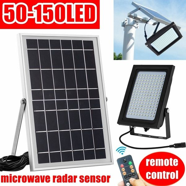 50 54 80 150led Waterproof Solar Powered Flood Light Street Lamp Outdoor Garden Security Lamp Wish Solar Powered Flood Lights Solar Solar Power