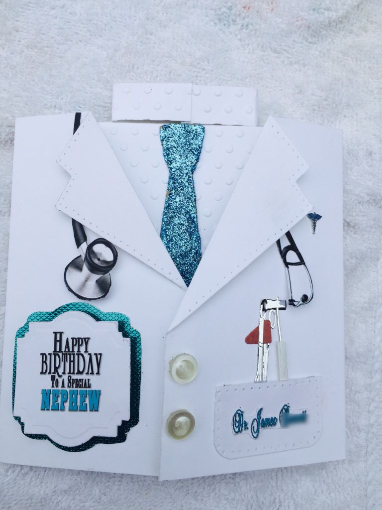 Birthday card for nephew doctor using spellbinders die masculine birthday card for nephew doctor using spellbinders die masculine m4hsunfo