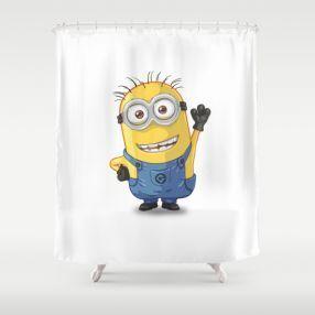 Cute Minion Shower Curtain Designs For The Kids Bathroom Decor