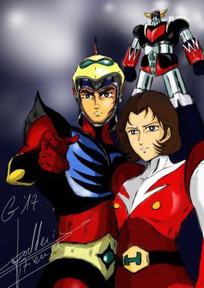 Actarus et venusia old cartoons manga anime cartoni animati e anime