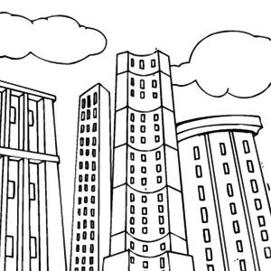 Apartment Building Coloring Pages | Coloring pages, Coloring ...