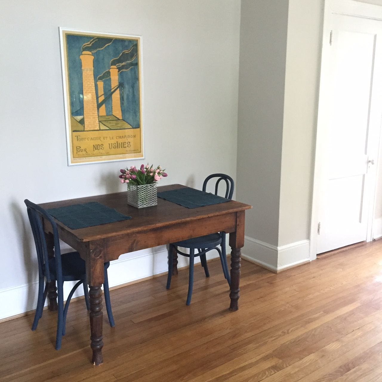 Home Staging Dining Room Table: Living / Dining Room Table (to Be Pushed Against Wall) In