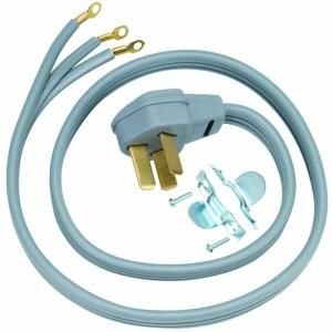 Ge 4 Ft 3 Prong 40 Amp Electric Range Cord Wx09x10006 The Home Depot Electric Range Cool Things To Buy Power Cord