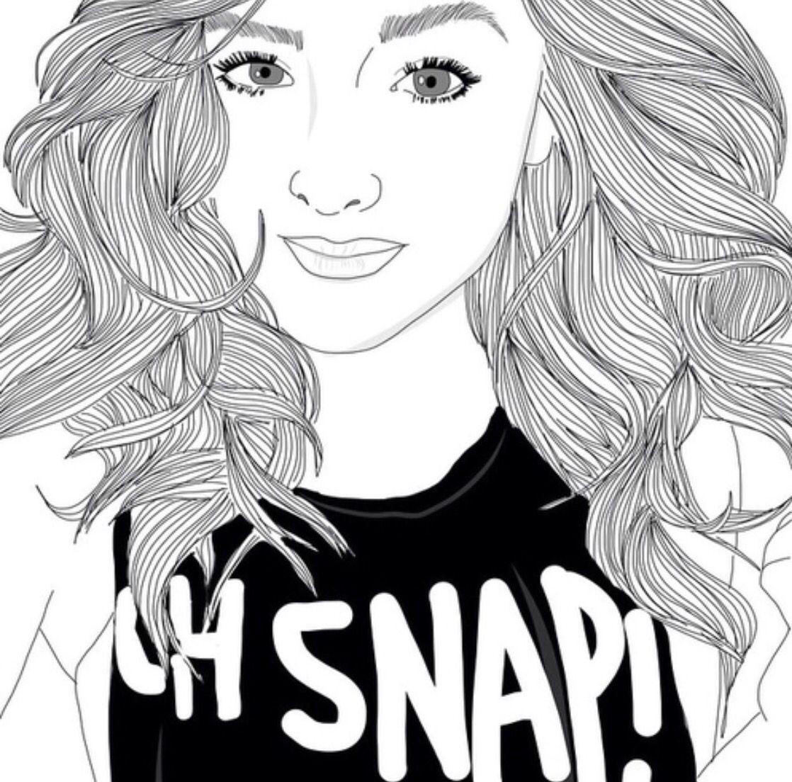 Line Art Instagram : Dibujos chica tumblr girl super chicas