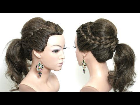 Easy Hairstyle For Long Hair Tutorial Ponytail With Braids