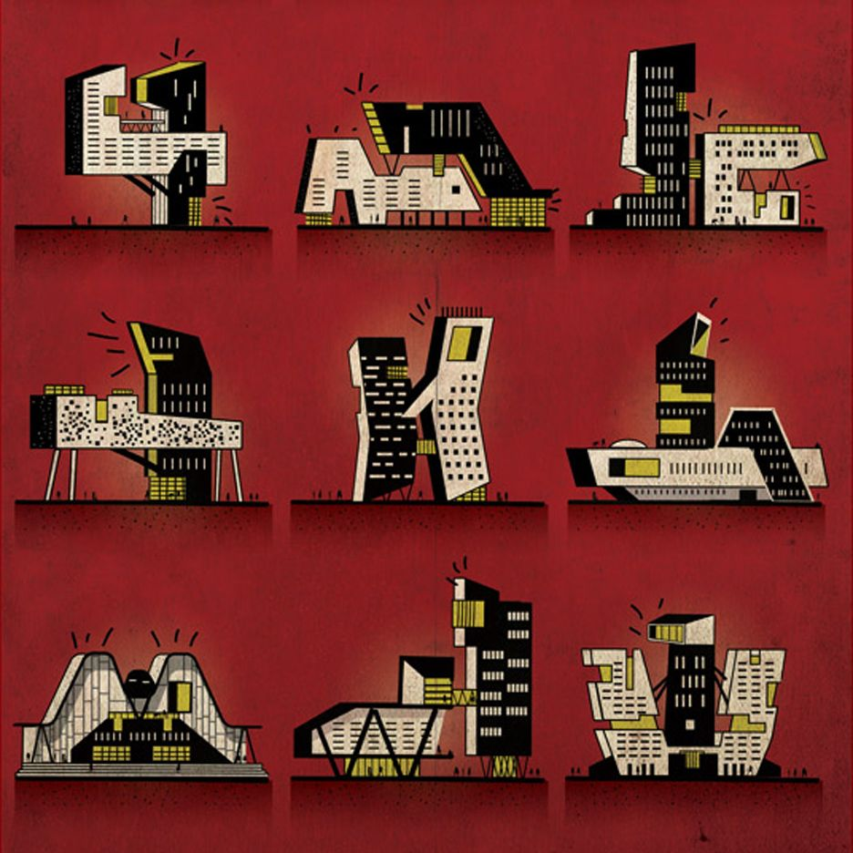Kama Sutra Reimagined As Architecture By Illustrator Babina