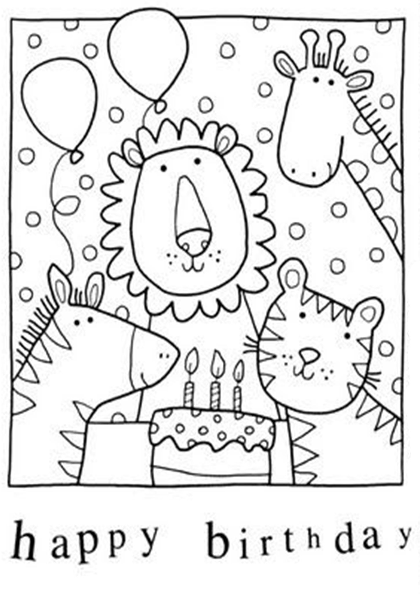 Free & Easy To Print Happy Birthday Coloring Pages  Birthday