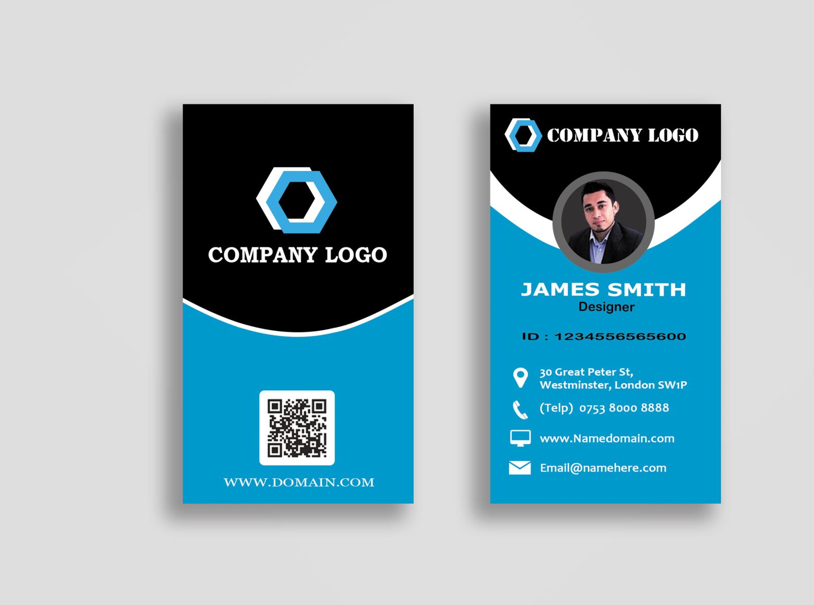 The Stunning Personal Business Cards Templatepolah Design On Dribbble With Business Card Template Photoshop Personal Business Cards Business Card Template Word