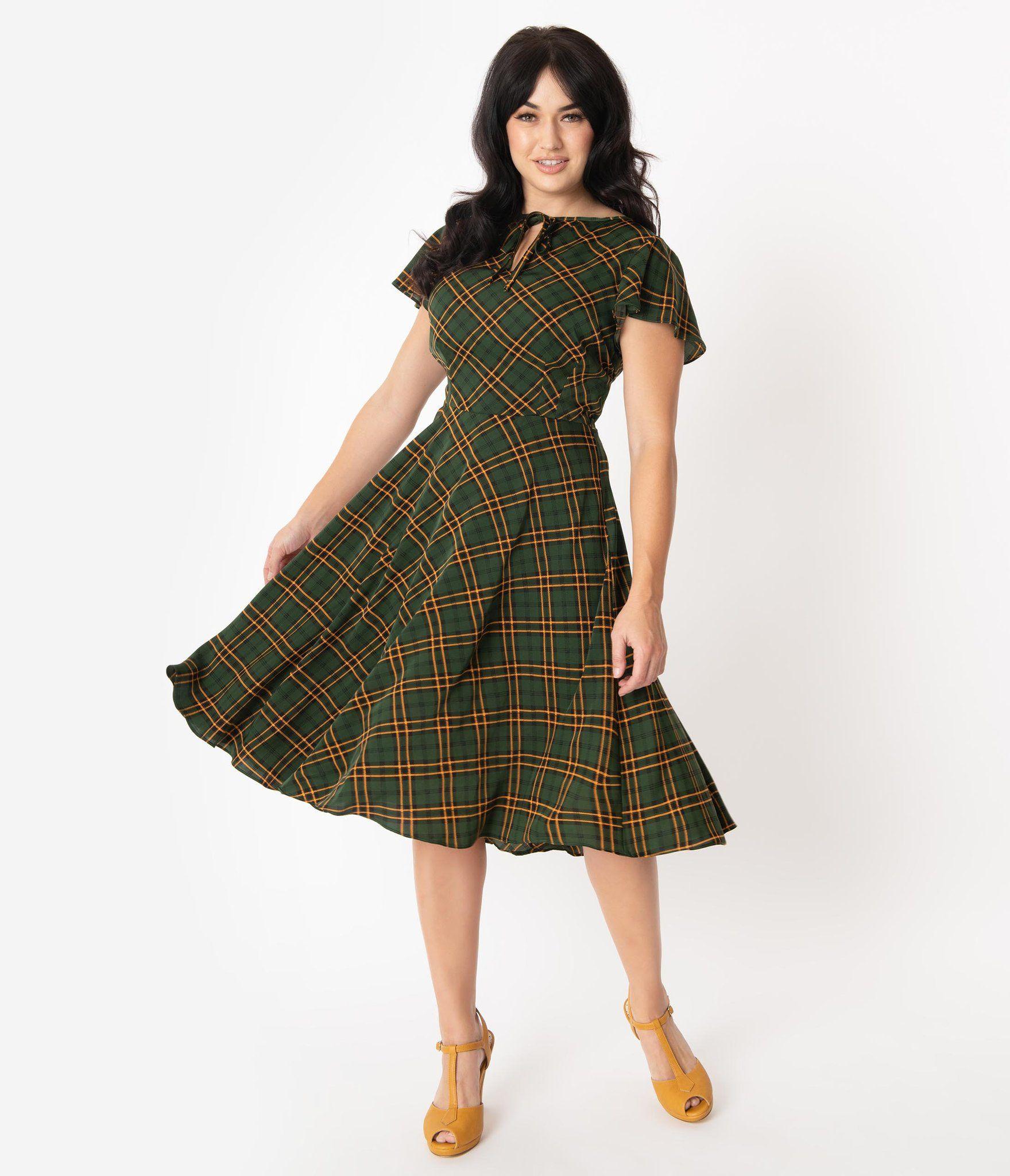Unique Vintage 1940s Style Green Plaid Formosa Swing Dress 1940s Fashion Dresses 1940s Vintage Dresses Plaid Dress Vintage [ 2048 x 1759 Pixel ]