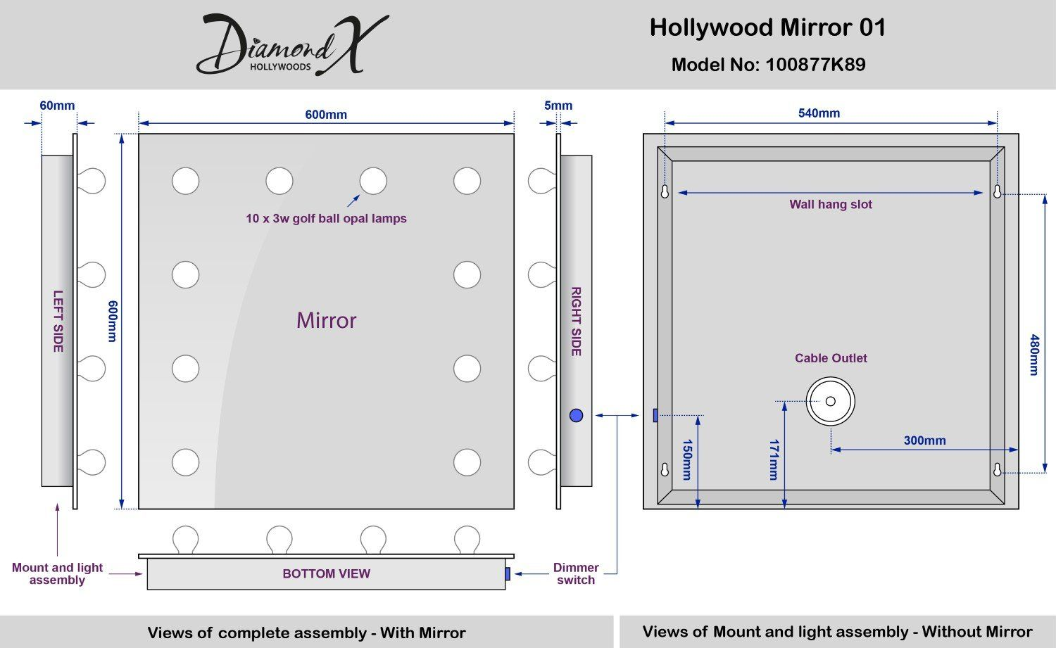 Diamond X Wallmount Hollywood Makeup Mirror With Dimmable Led K89ww For More Information Visit Image Lin Hollywood Makeup Mirror Dimmable Led Makeup Mirror