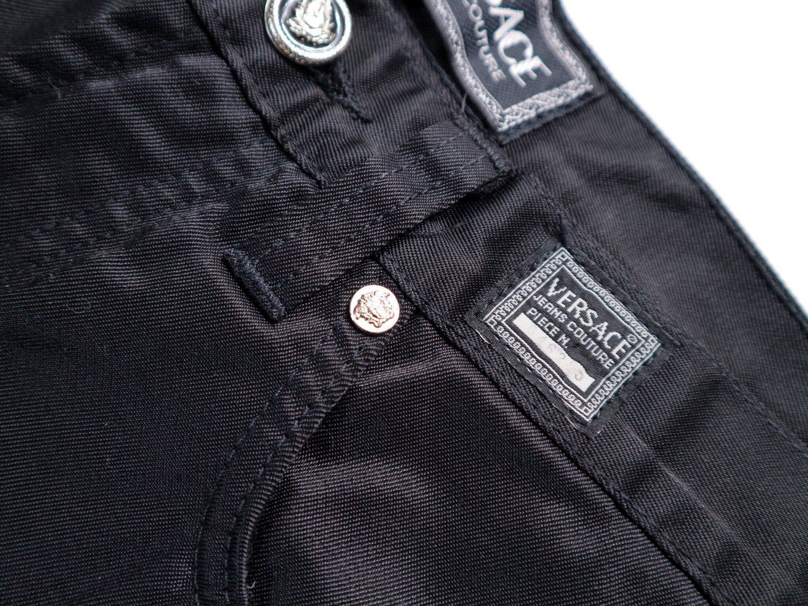 Versace Jeans 90s Versace Jeans Satin Black Jeans High Etsy Versace Jeans 20 Years Old