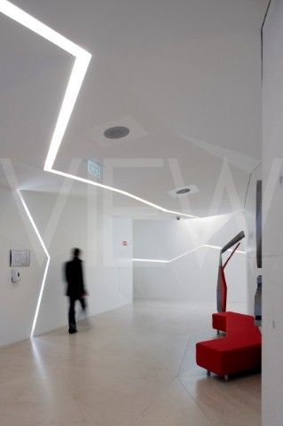 Vodafone Headquarters Building Barbosa  Guimaraes Architects Porto Portugal 2010 Hallway interior wi