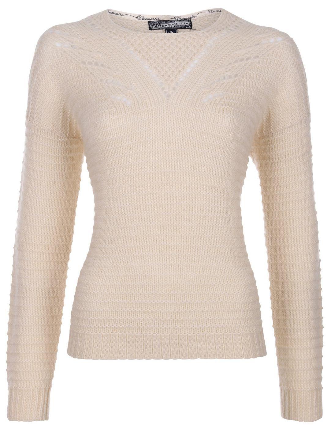 Pullover Detailreicher Pullover Aus Weichem Flauschigen Garn Im