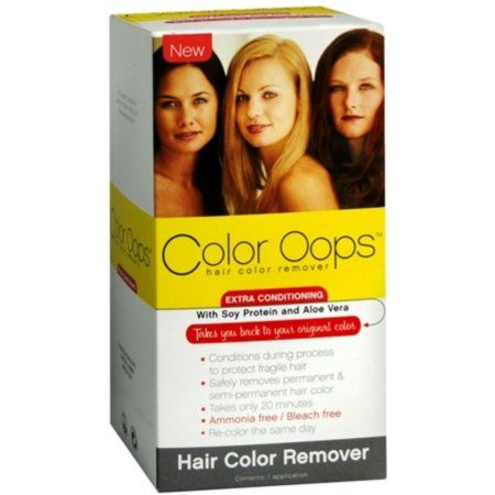 Color Oops Extra Conditioning Hair Color Remover Bleach Free Dye Remover Walmart Com Hair Color Remover Color Oops Oops Hair Color Remover